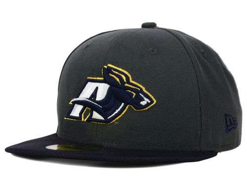 Akron Zips New Era NCAA 2 Tone Graphite and Team Color 59FIFTY Cap Hats