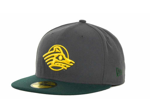 Alaska Anchorage Seawolves New Era NCAA 2 Tone Graphite and Team Color 59FIFTY Cap Hats