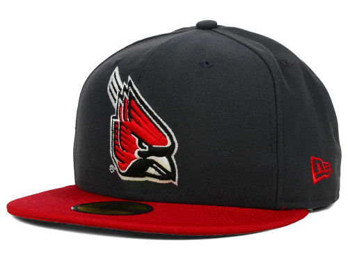 Ball State Cardinals New Era NCAA 2 Tone Graphite and Team Color 59FIFTY Cap Hats