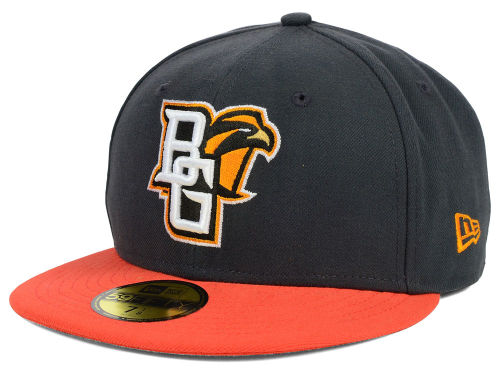 Bowling Green Falcons New Era NCAA 2 Tone Graphite and Team Color 59FIFTY Cap Hats