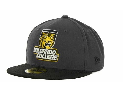 Colorado College Tigers New Era NCAA 2 Tone Graphite and Team Color 59FIFTY Cap Hats