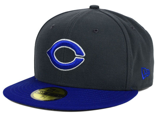Creighton Blue Jays New Era NCAA 2 Tone Graphite and Team Color 59FIFTY Cap Hats