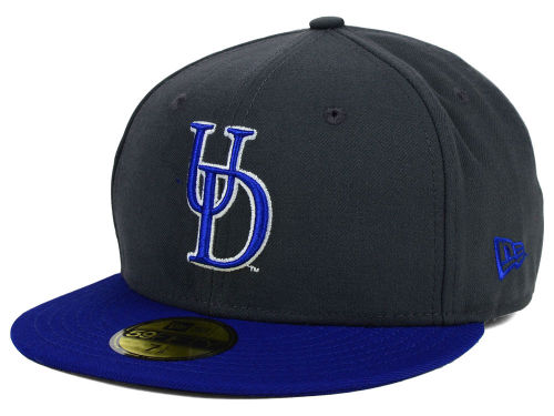 Delaware Blue Hens New Era NCAA 2 Tone Graphite and Team Color 59FIFTY Cap Hats