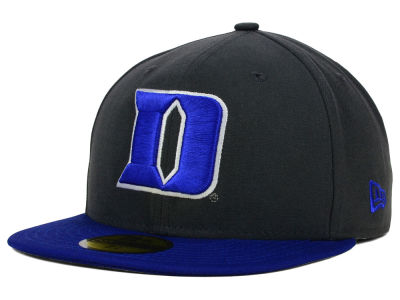 Duke Blue Devils NCAA 2 Tone Graphite and Team Color 59FIFTY Cap Hats