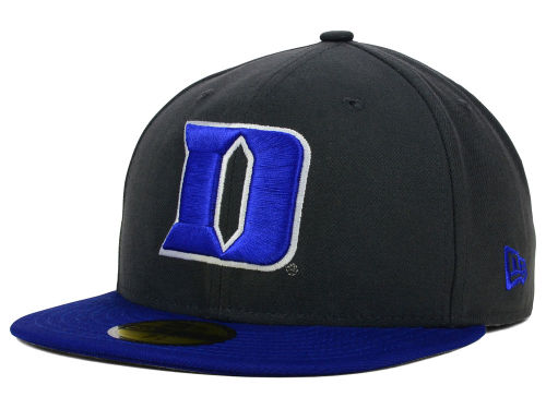 Duke Blue Devils New Era NCAA 2 Tone Graphite and Team Color 59FIFTY Cap Hats