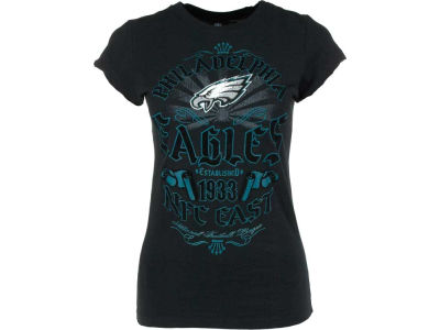 Philadelphia Eagles NFL Womens Crew Slub Flock 8649 T-Shirt