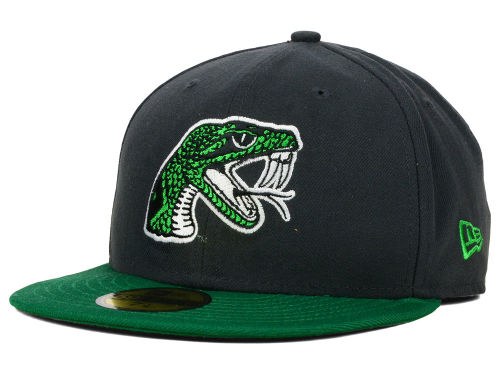 Florida A&M Rattlers New Era NCAA 2 Tone Graphite and Team Color 59FIFTY Cap Hats