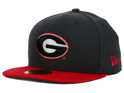 Georgia Bulldogs NCAA 2 Tone Graphite and Team Color 59FIFTY Cap Hats