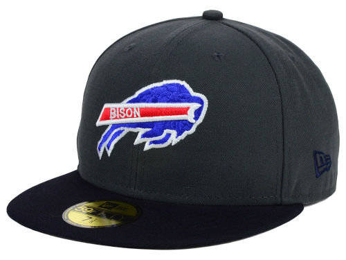 Howard University Bisons New Era NCAA 2 Tone Graphite and Team Color 59FIFTY Cap Hats