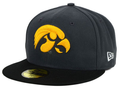 Iowa Hawkeyes NCAA 2 Tone Graphite and Team Color 59FIFTY Cap Hats