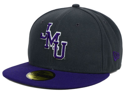 James Madison Dukes NCAA 2 Tone Graphite and Team Color 59FIFTY Cap Hats