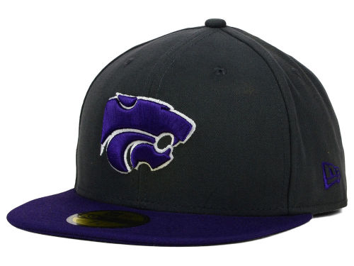 Kansas State Wildcats New Era NCAA 2 Tone Graphite and Team Color 59FIFTY Cap Hats
