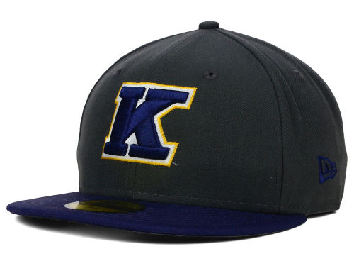 Kent State Golden Flashes New Era NCAA 2 Tone Graphite and Team Color 59FIFTY Cap Hats