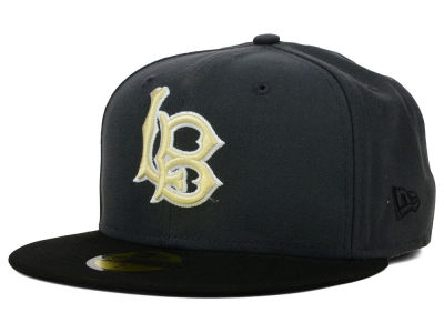 Long Beach State 49ers NCAA 2 Tone Graphite and Team Color 59FIFTY Cap Hats