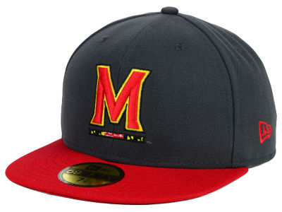 Maryland Terrapins NCAA 2 Tone Graphite and Team Color 59FIFTY Cap Hats