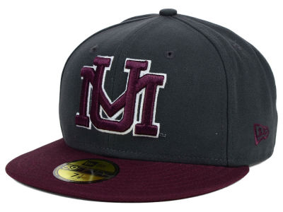 Montana Grizzlies NCAA 2 Tone Graphite and Team Color 59FIFTY Cap Hats