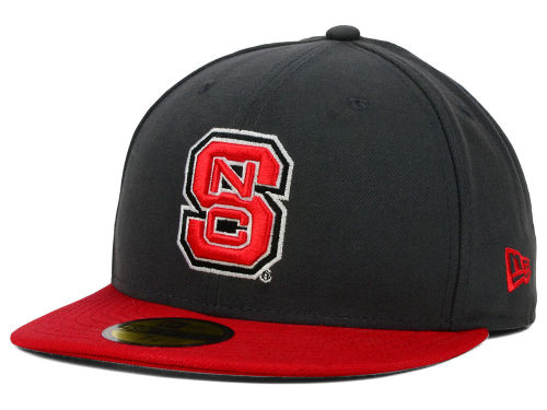 North Carolina State Wolfpack New Era NCAA 2 Tone Graphite and Team Color 59FIFTY Cap Hats