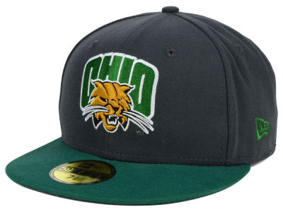 Ohio Bobcats NCAA 2 Tone Graphite and Team Color 59FIFTY Cap Hats