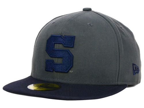 Penn State Nittany Lions New Era NCAA 2 Tone Graphite and Team Color 59FIFTY Cap Hats