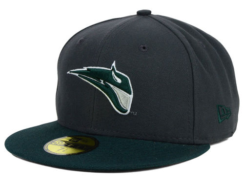 Portland State Vikings New Era NCAA 2 Tone Graphite and Team Color 59FIFTY Cap Hats