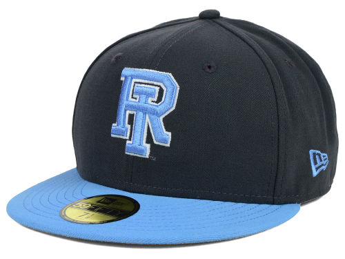 Rhode Island Rams New Era NCAA 2 Tone Graphite and Team Color 59FIFTY Cap Hats