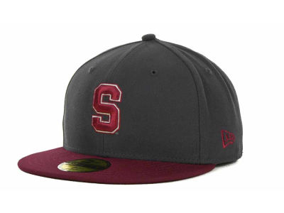 Stanford Cardinal NCAA 2 Tone Graphite and Team Color 59FIFTY Cap Hats