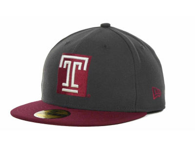 Temple Owls NCAA 2 Tone Graphite and Team Color 59FIFTY Cap Hats