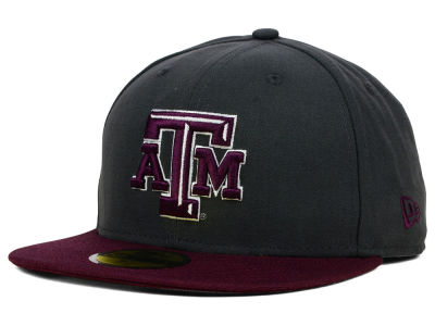 Texas A&M Aggies NCAA 2 Tone Graphite and Team Color 59FIFTY Cap Hats