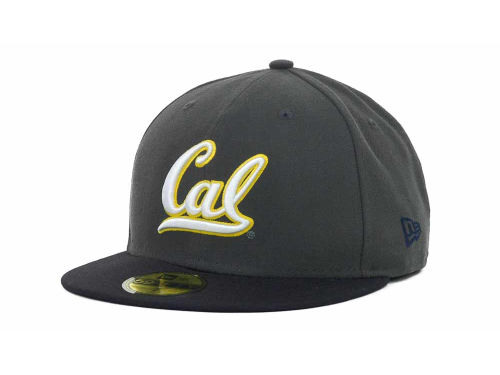 California Golden Bears New Era NCAA 2 Tone Graphite and Team Color 59FIFTY Cap Hats