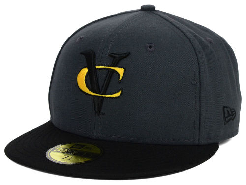 VCU Rams New Era NCAA 2 Tone Graphite and Team Color 59FIFTY Cap Hats