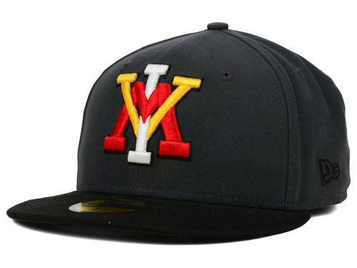 VMI Keydets New Era NCAA 2 Tone Graphite and Team Color 59FIFTY Cap Hats