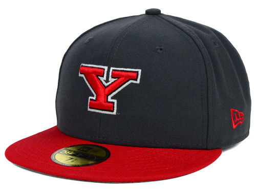Youngstown State Penguins New Era NCAA 2 Tone Graphite and Team Color 59FIFTY Cap Hats