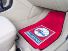 Philadelphia 76ers Car Mats Set/2 Auto Accessories