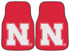 Nebraska Cornhuskers Car Mats Set/2 Auto Accessories