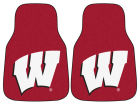 Wisconsin Badgers Car Mats Set/2 Auto Accessories
