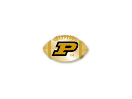 Purdue Boilermakers Sculpted Football Pin