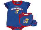 Kansas Jayhawks adidas NB Creeper Bib And Booties Infant Apparel