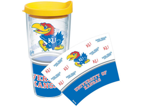 Kansas Jayhawks Tervis Tumbler NCAA 24oz. Wrap Tumbler with Lid