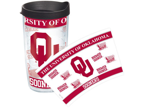 Oklahoma Sooners Tervis Tumbler 16oz Wrap Tumbler With Lid