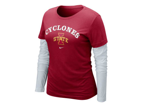 Iowa State Cyclones Nike NCAA Womens Cross Campus Long Sleeve Layer T-Shirt