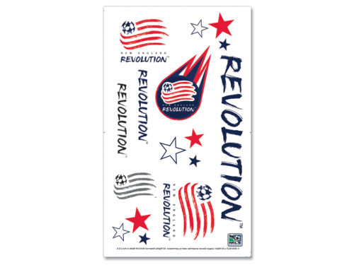 New England Revolution Wincraft Temporary Tattoos
