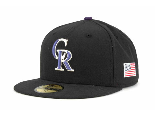 Colorado Rockies New Era MLB AC On Field 9-11 Patch 59FIFTY Cap Hats