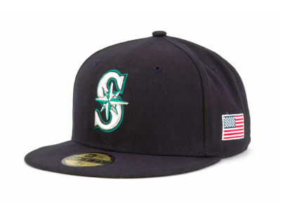 Seattle Mariners MLB AC On Field 9-11 Patch 59FIFTY Cap Hats