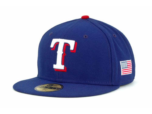 Texas Rangers New Era MLB AC On Field 9-11 Patch 59FIFTY Cap Hats
