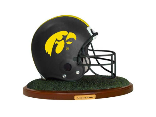 Iowa Hawkeyes Replica Helmet with Wood Base