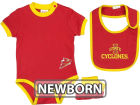 Iowa State Cyclones Franco NCAA Newborn Bodysuit Bib and Bootie Infant Apparel