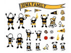 Iowa Hawkeyes Family Decal 28pk Auto Accessories