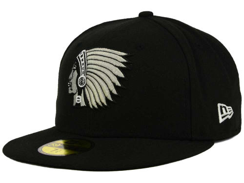 Boston Braves New Era MLB Black and White Fashion 59FIFTY Cap Hats