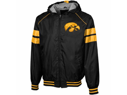 Iowa Hawkeyes GIII NCAA Light Weight Hooded Jacket
