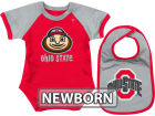 Ohio State Buckeyes Colosseum NCAA Newborn First Down Bodysuit Bib Set Infant Apparel